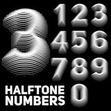 套传染媒介中间影调压印的数字 被加点的压印的数字 单色设计 皇族释放例证