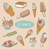 套传染媒介冰淇凌 免版税库存照片
