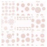 套传染媒介几何样式 葡萄酒纹理 免版税库存图片