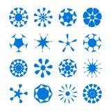 套传染媒介圆的设计元素 免版税库存照片