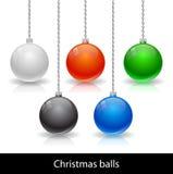 传染媒介圣诞节球 免版税图库摄影