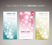 套传染媒介圣诞节/新年垂直横幅 免版税图库摄影