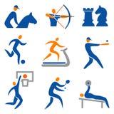 套体育运动图标 皇族释放例证