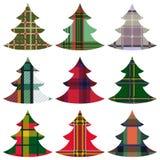 套使用凯尔特装饰品的圣诞树 库存例证