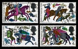 英国黑斯廷斯战役邮票 免版税库存图片