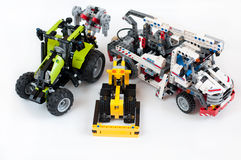 套儿童的玩具Lego 图库摄影