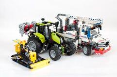 套儿童的玩具Lego 免版税库存照片