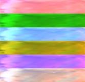 套六五颜六色的水彩条纹 免版税库存照片