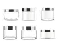 套六支透明化妆管 向量 免版税图库摄影