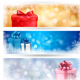 套冬天圣诞节横幅 图库摄影