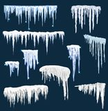 套冰冠 冬天装饰 库存照片
