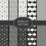 套几何抽象无缝的立方体样式 免版税库存图片