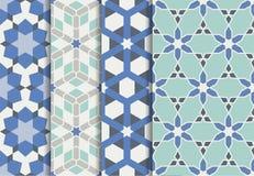 套几何,阿拉伯无缝的样式 皇族释放例证