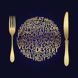 套刀叉餐具图标 免版税库存图片