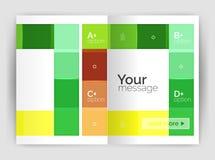 套前面和后面a4大小页,企业年终报告设计模板 免版税库存图片