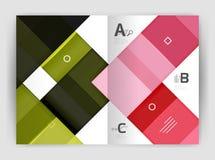 套前面和后面a4大小页,企业年终报告设计模板 免版税图库摄影