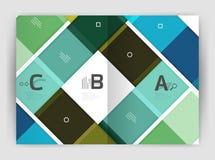 套前面和后面a4大小页,企业年终报告设计模板 免版税库存照片
