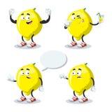 套动画片柠檬 库存图片