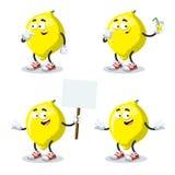套动画片柠檬 库存照片