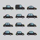 套动画片汽车设计 免版税库存照片