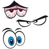 套动画片眼睛, 图库摄影