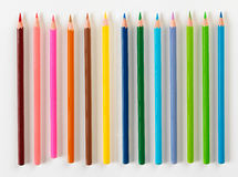 套十三支铅笔 免版税库存照片