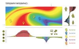 套印刷术Infographic元素 免版税图库摄影