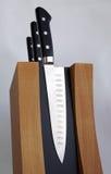 套厨房的刀子 免版税库存图片