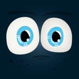 套发光的字符眼睛 图库摄影