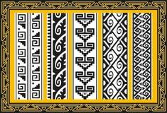 套古老美洲印第安人向量模式 免版税库存照片