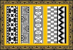 套古老美洲印第安人模式 图库摄影