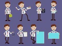 套各种各样的医生Medical Concepts Vector 皇族释放例证