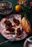 套各种各样的异常的开胃菜 免版税库存照片