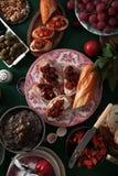套各种各样的异常的开胃菜 免版税图库摄影