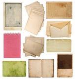 套各种各样的老纸板料 库存照片