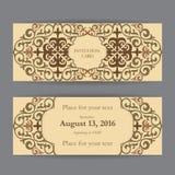 套名片、邀请和卡片模板与紫胶 库存图片