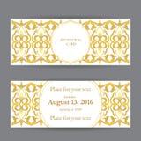 套名片、邀请和卡片模板与紫胶 免版税图库摄影