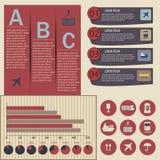 套后勤infographic元素 免版税图库摄影
