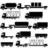 套向量图标-运输符号。 免版税库存图片