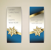 套向量圣诞节/新年度横幅 免版税库存图片