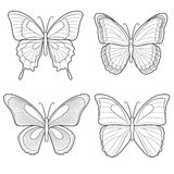 套向量蝴蝶 替换 免版税库存照片