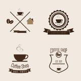 套咖啡店商标 库存图片