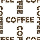套咖啡杯无缝的样式 免版税库存照片