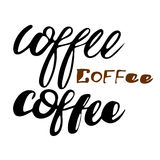 套咖啡标签和商标3个元素 图库摄影