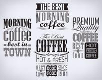 套咖啡标签 图库摄影