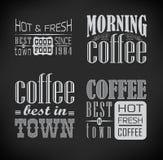 套咖啡标签 库存照片