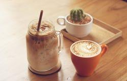 套咖啡 免版税库存照片