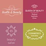 套商标和标志秀丽的,化妆用品,反agin 向量例证