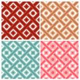 套四与圈子和正方形样式的织法在印地安样式 免版税图库摄影