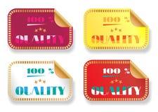 套四个五颜六色的贴纸-紫罗兰,黄色 免版税库存图片